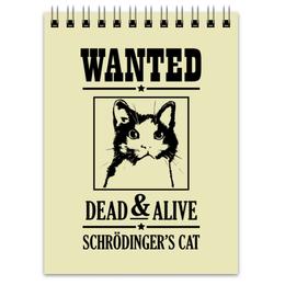 """Блокнот """"Кот Шрёдингера"""" - прикольные, коты, наука, кот шрёдингера"""