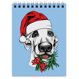 """Блокнот """"Новогодний"""" - новый год, собака"""