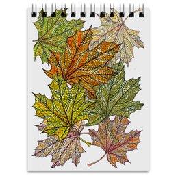 """Блокнот """"Кленовые листья в стиле мехенди"""" - узор, листья, осень, деревья, мехенди"""
