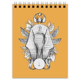 "Блокнот ""Фараон "" - оранжевый, рисунок, фараон, draw"