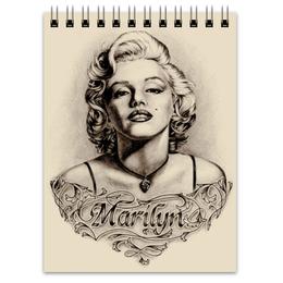 """Блокнот """"Marylin Monroe"""" - ретро, кино, актриса, мэрилин монро, marilyn monroe"""