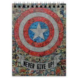 """Блокнот """"Капитан Америка"""" - комиксы, кэп, марвел, captain america"""