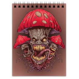 "Блокнот ""Зловещие мухоморы"" - прикол, гриб, грибы, зло, мухомор"