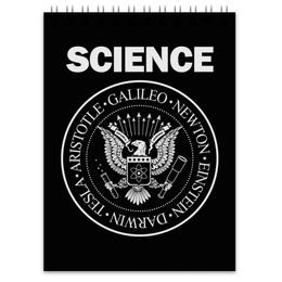 """Блокнот """"Наука"""" - geek, science, наука, ученый, ramones"""