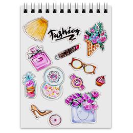"""Блокнот """"Spring Fashion Vibes"""" - цветы, весна, мода, иллюстрация, акварель"""
