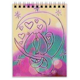 """Блокнот """"Влюбленные коты на луне"""" - любовь, день святого валентина, 14 февраля, подарки, день влюбленных"""