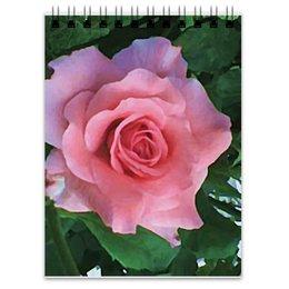 "Блокнот ""Розовая роза"" - цветы, роза"