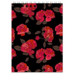 """Блокнот """"Ночной розарий"""" - цветок, роза, девушке, подарок"""