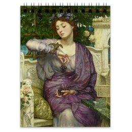 "Блокнот ""Лесбия и её воробушек (Эдвард Пойнтер)"" - картина, живопись, мифология, пойнтер"