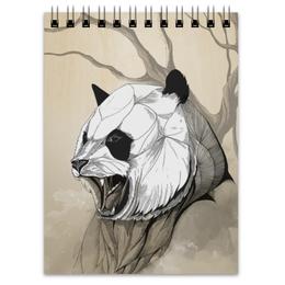 """Блокнот """"Панда"""" - арт, медведь, панда, panda"""