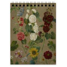 """Блокнот """"Цветы (картина Эжена Делакруа)"""" - цветы, картина, живопись, делакруа, романтизм"""