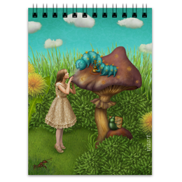 "Блокнот ""Синяя гусеница"" - алиса, сказка, алиса в стране чудес, alice in wonderland, синяя гусеница"