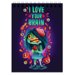 """Блокнот """"Милашка зомби"""" - любовь, арт, zombie, зомби, девочка"""