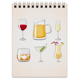 """Блокнот """"Блокнот официанта"""" - виски, стакан, мартини, бокал, сок"""