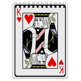 "Блокнот ""The King"" - king, король, hearts, the king, червы"
