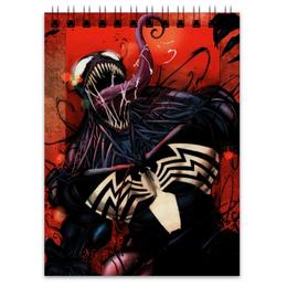 "Блокнот ""Веном (Venom)"" - comics, комиксы, марвел, человек-паук, веном"