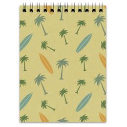"""Блокнот """"Гавайка"""" - пальма, море, отдых, песок, серфинг"""
