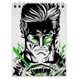 """Блокнот """"Зеленый фонарь"""" - комиксы, dc, green lantern, dc comics"""