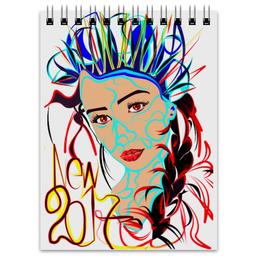"Блокнот ""Снегурочка New 2017"" - новый год, корона, снегурочка, 2017, огненный петух"
