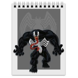 """Блокнот """"Venom"""" - рисунок, venom, marvel, веном"""