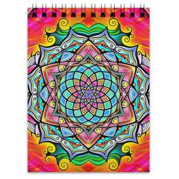 """Блокнот """"Mandala HD2"""" - узор, ретро, классика, этно, симметрия"""