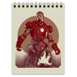 """Блокнот """"Железный человек"""" - комиксы, мстители, avengers, марвел, iron man"""