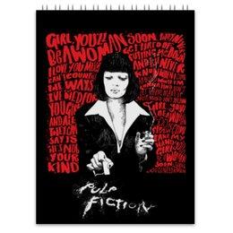"Блокнот ""Pulp Fiction (Ума Турман)"" - ума турман, тарантино, криминальное чтиво, mia, культовое кино"