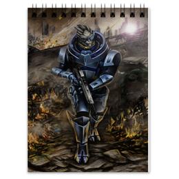 """Блокнот """"Mass Effect (Garrus Vakarian)"""" - арт, mass effect, масс эффект, garrus vakarian"""