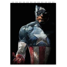 "Блокнот ""Капитан Америка"" - комиксы, кэп, марвел, капитан америка, captain america"