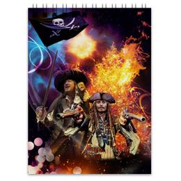 """Блокнот """"Зажигательный праздник с пиратами Карибского моря."""" - пираты, джонни депп, джек воробей, пираты карибского моря, барбосса"""