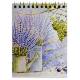 "Блокнот ""Лавандовый прованс "" - рисунок, природа, виноград, лаванда, прованс"