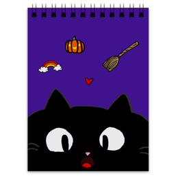 """Блокнот """"Блокнот ведьмочки"""" - кот, ведьма, мультик, мило, тыква"""
