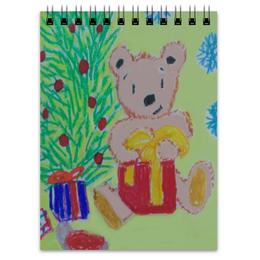 """Блокнот """"Новогодний мишка"""" - новый год, мишка"""