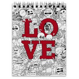 """Блокнот """"Doodle Love"""" - любовь, sketch, doodle"""