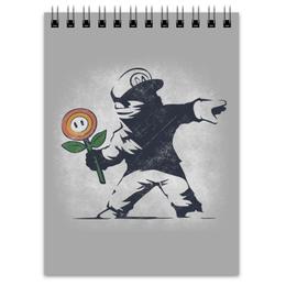 """Блокнот """"Граффити Марио"""" - арт, граффити, banksy, super mario, супер марио"""