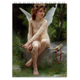 """Блокнот """"Подстерегающая любовь (Вильям Бугро)"""" - купидон, амур, бугро, живопись, картина"""