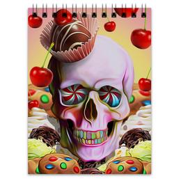 """Блокнот """"Sweet Skull"""" - skull, череп, сладости, печенье, пирожное"""