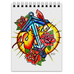 """Блокнот """"lantern """" - арт, tattoo, тату, розы, tm kiseleva"""