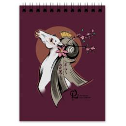 """Блокнот """"Гейша"""" - арт, цветы, животные, весна, лошади"""