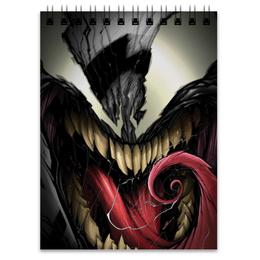 "Блокнот ""Веном (Venom)"" - комиксы, venom, марвел, человек-паук, spdier man"