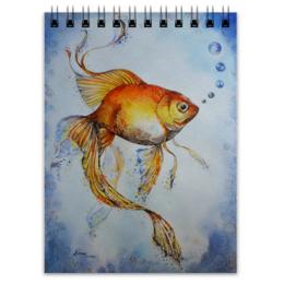 """Блокнот """"Рыбка Золотая """" - рисунок, рыбка золотая, рыбка"""