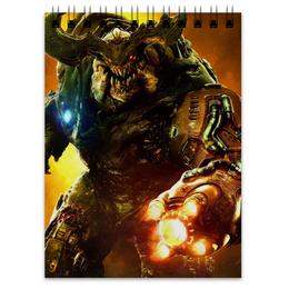 "Блокнот ""Doom 4"" - doom, шутер, дум, cyberdemon, кибер демон"