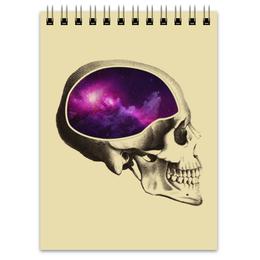 """Блокнот """"Вселенная"""" - череп, арт, космос, вселенная"""