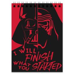 """Блокнот """"Darth Vader & Kylo Ren"""" - star wars, звездные войны, дарт вейдер, кайло рен, бен соло"""
