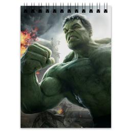"Блокнот ""Невероятный Халк"" - комиксы, hulk, мстители, марвел, халк"