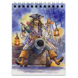 """Блокнот """"Поедем, красотка, кататься."""" - любовь, арт, пират, джек воробей, пираты карибского моря"""