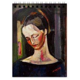 """Блокнот """"Женский портрет (картина Ильи Машкова)"""" - картина, портрет, живопись, машков"""