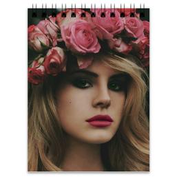 """Блокнот """"Lana Del Rey"""" - розы, lana del rey, лана, лана дель рей"""