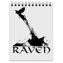 """Блокнот """"Raven Brand"""" - ворон, raven, raven brand, voron"""