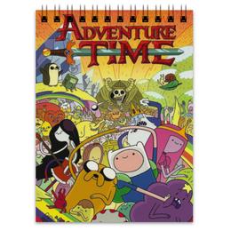 """Блокнот """"Adventure time"""" - фин, джейк, пупырка, время приключений, adventure time"""